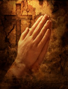 Praying hands graphic