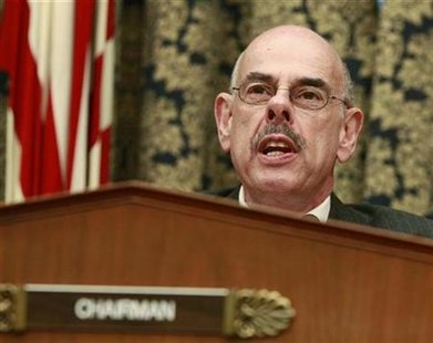 Rep. Henry Waxman (D-CA), chairman of the House Oversight and Government Reform Committee, conducts a hearing with the former CEOs of Fannie Mae and Freddie Mac on Capitol Hill in Washington, December 9, 2008 file photo. REUTERS/Jason Reed