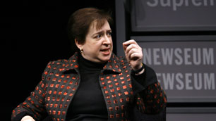 Solicitor General Elena Kagan, seen here in January, is reported to be President Barack Obama's choice for the Supreme Court, although she has never been a judge.  (Jose Luis/Magana/Associated Press)