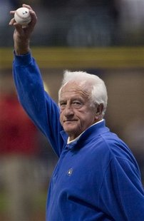 Bob Uecker at Miller Park.