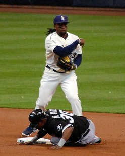 Rickie Weeks playing for the Milwaukee Brewers at Miller Park in Milwaukee, Wisconsin. By Alorrigan (Own work) [CC-BY-SA-3.0 (http://creativecommons.org/licenses/by-sa/3.0)], via Wikimedia Commons