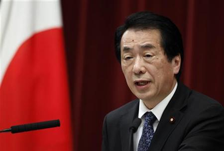 Japan's Prime Minister Naoto Kan speaks during a news conference at his official residence in Tokyo June 21, 2010. REUTERS/Yuriko Nakao