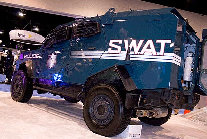 The Marathon County sheriff's department is looking to purchase this Sandcat model armored truck from the Oshkosh Corporation.