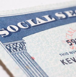 An image of a social security card.