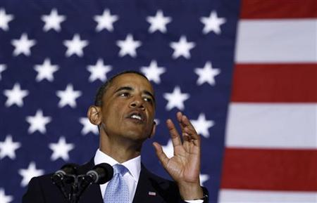 President Barack Obama delivers remarks at Xavier University in New Orleans, Louisiana, August 29, 2010. REUTERS/Jim Young