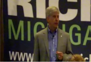 Michigan Gubernatorial candidate Rick Snyder speaks to a Town Hall Meeting in Kalamazoo, Michigan on Tuesday September 7th, 2010.