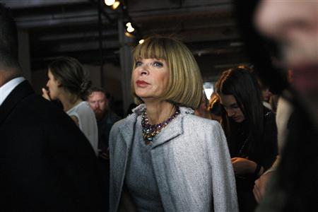 American Vogue magazine editor Anna Wintour leaves after attending the Rag & Bone women's Spring 2011 collection show during the New York Fashion Week, September 10, 2010. REUTERS/Kena Betancur