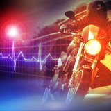 Motorcycle crash graphic.