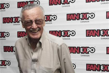 Stan Lee, co-creator of Spider-Man, poses for media at Fan Expo in Toronto, Canada, August 28, 2010. REUTERS/Jill Kitchener