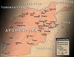 Afghanistan map.