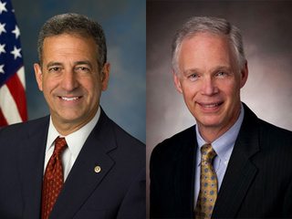 Candidates for U.S. Senate Russ Feingold (D), left, and Ron Johnson (R). (courtesy of FOX 11).