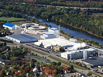 A rendering of what a proposed biomass power plant near the Domtar paper mill in Rothschild will look like  (Photo courtesy We Energies)