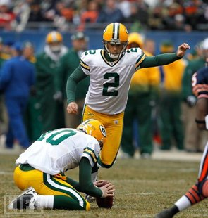 Mason Crosby of the Green Bay Packers.