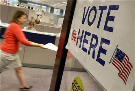 An early voter is seen at the Fairfax County Government Center in Fairfax, Virginia October 26, 2010. REUTERS/Larry Downing