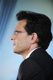 House Minority Whip Rep. Eric Cantor (R-VA) attends an interview at the Newseum in Washington October 1, 2009. REUTERS/Jonathan Ernst
