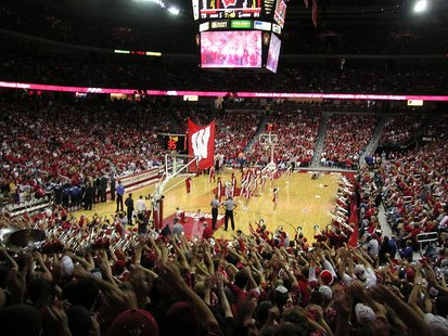 The Kohl Center in Wisconsin, the home of Wisconsin Badgers basketball.
