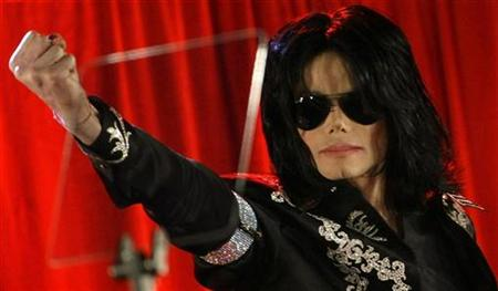 Michael Jackson gestures during a news conference at the O2 Arena in London March 5, 2009. REUTERS/Stefan Wermuth