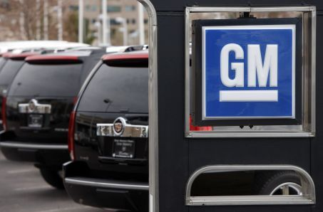 A General Motors dealership near Denver, Colo. Photo courtesy of the Associated Press.
