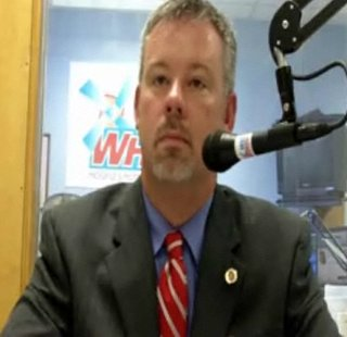 Holland Schools Superintendent Brian Davis in the WHTC studio in November of 2010.