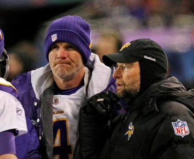 Brad Childress (right) and Brett Favre
