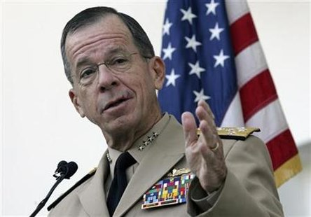 The Chairman of the Joint Chiefs of Staff Admiral Mike Mullen addresses the media in Ankara September 4, 2010. REUTERS/Stringer
