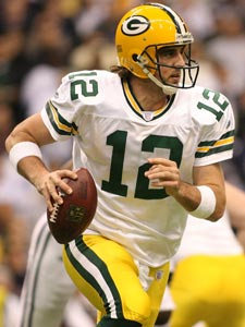 Packers quarterback Aaron Rodgers.