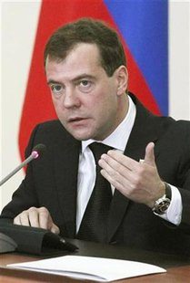 Russia's President Dmitry Medvedev speaks during a meeting on security issues in Ryazan, some 180 km (111 miles) southeast of Moscow December 16, 2010. REUTERS/Mikhail Klimentyev/RIA Novosti/Pool