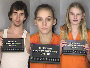 Leroy Osgood, left, Cynthia Myers, middle, and Kim Klosterman (Photos courtesy of the Shawano County Sheriff's Dept.)