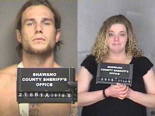 Matthew Welch (L) and Shannon Zeeman (Photo courtesy Shawano Co. Sheriff's Dept.)