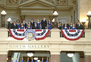 "The swing choir from Notre Dame Academy performed The 5th Dimension's 1969 number one hit ""the Age of Aquarius"" at Governor Scott Walker's inauguration, Monday, January 3, 2011."