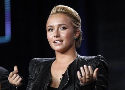 "Cast member Hayden Panettiere answers a question at the Lifetime Television panel for the movie ""The Amanda Knox Story"" during the Television Critics Association winter press tour in Pasadena, California January 7, 2011. REUTERS/Mario Anzuoni"