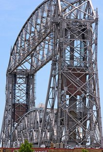 The Ariel Lift Bridge, located in the Canal Park area of Duluth, MN.