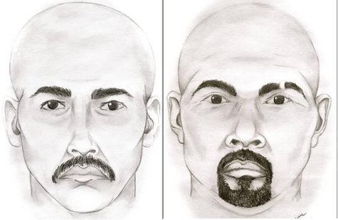 Sketches of the suspects in the Van Buren Co. Jan. 5 shooting (courtesy Van Buren Co. Sheriff's Dept.)