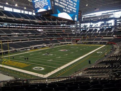 The inside of Dallas Cowboys Stadium in Arlington, Texas for Super Bowl XLV. (photo submitted by Andy Quintana).