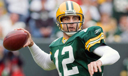 Aaron Rodgers of the Green Bay Packers.