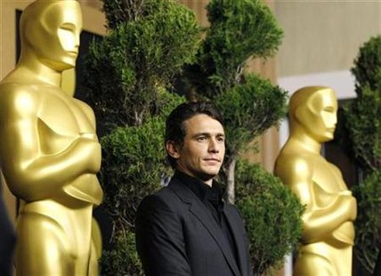 "James Franco, best actor nominee for his role in ""127 Hours"", attends the nominees luncheon for the 83rd annual Academy Awards in Beverly Hills, California February 7, 2011. REUTERS/Mario Anzuoni"