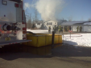 Little Suamico House fire (courtesy of FOX 11)
