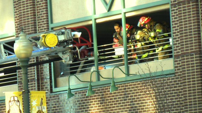 Arcadia Ramp Car Fire in Downtown Kalamazoo