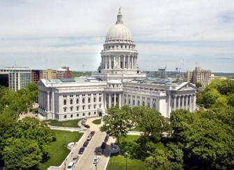 The Wisconsin state Capitol Building in Madison is seen in this undated photo.