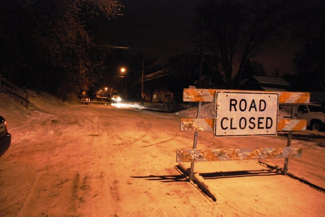 A water main break off West Main near Berkley in Kalamazoo closes several blocks and interrupts water service. Photos by Sean Patrick Duross.