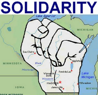 Union solidarity graphic.