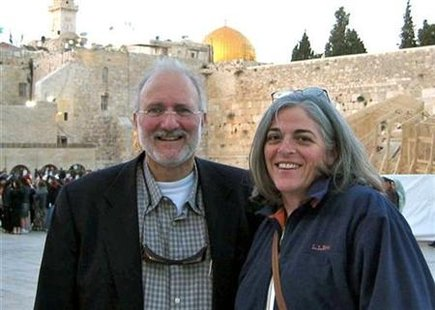 U.S. aid contractor Alan Gross and his wife Judy pose for a picture in Jerusalem in the spring of 2005, in this family photograph released on October 23, 2010. REUTERS/Family Photograph/Handout