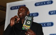 Donald Driver Talking on Microphone