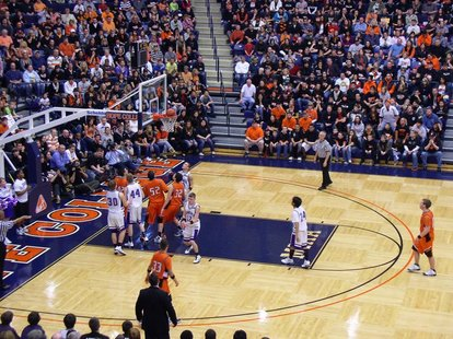 Action from the Mar. 7, 2011 Fennville versus Lawrence state Class C district first-round game at DeVos Fieldhouse.