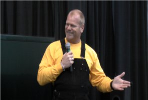 "Mike Holmes from HGTV's ""Holmes on Holmes"" speaks at the 2011 Kalamazoo/Battle Creek Home Expo in Portage, Michigan.  3/12/2011"