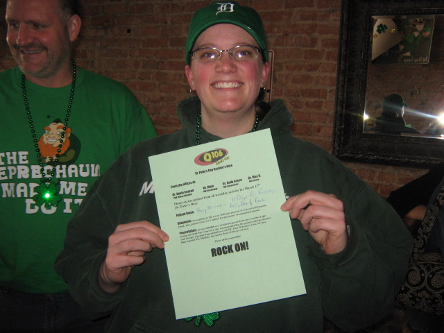 We teamed up with Bud Light for the 2011 Q106 St. Patty's Day Pub Crawl.  It was a blast, Rock On!