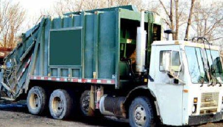 A garbage truck.