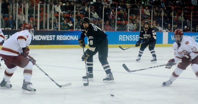 Western Michigan hockey falls to Denver 3-2 in a double-overtime first round NCAA Tournament game in Green Bay, WI - 03/26/11.  Photos by Sean Patrick Duross