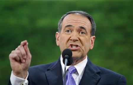 Former Republican presidential candidate Mike Huckabee speaks during the third session of the 2008 Republican National Convention in St. Paul in this Minnesota September 3, 2008 file photo. REUTERS/Brian Snyder