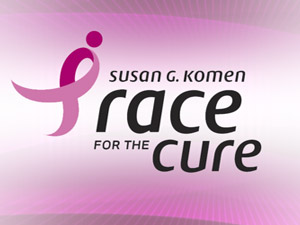 Susan G. Koman Race For The Cure logo.